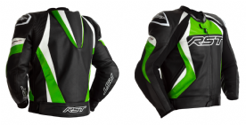 RST Tractech Evo 4 Green Leather Jacket